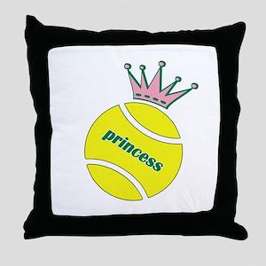 Tennis Princess Throw Pillow