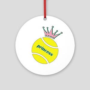 Tennis Princess Ornament (Round)