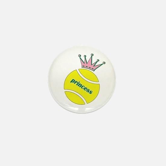 Tennis Princess Mini Button