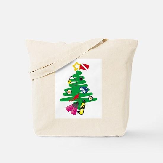 A Very Scuba Christmas Tote Bag