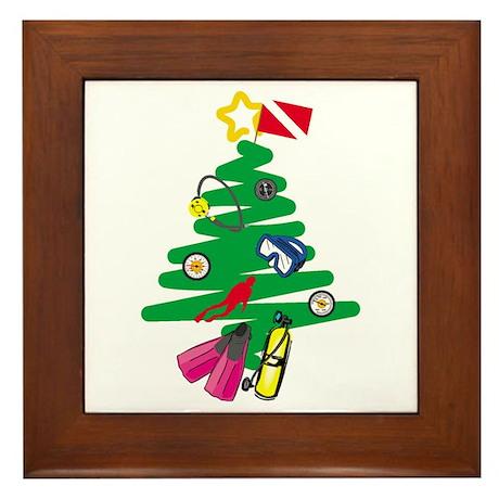 A Very Scuba Christmas Framed Tile