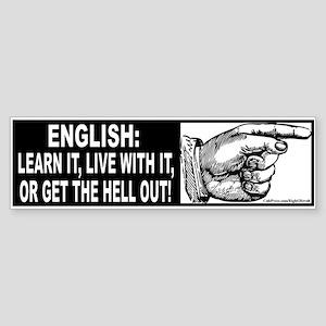 Learn English! (sticker)