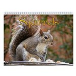 Squirrel Wall Calendar