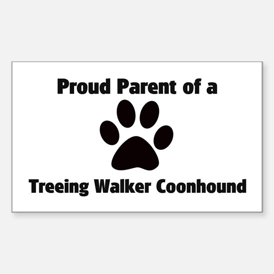 Treeing Walker Coonhound Rectangle Decal