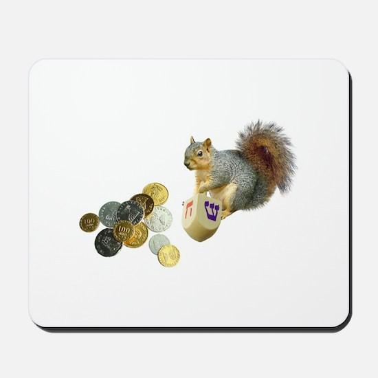 Dreidel Squirrel Mousepad