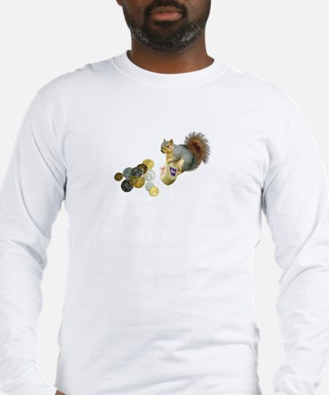 Dreidel Squirrel Long Sleeve T-Shirt