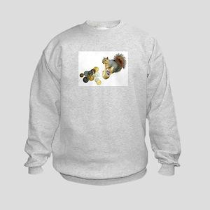 Dreidel Squirrel Kids Sweatshirt