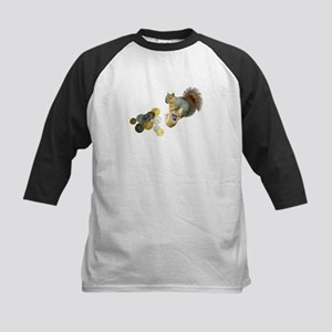 Dreidel Squirrel Kids Baseball Jersey