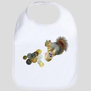 Dreidel Squirrel Bib