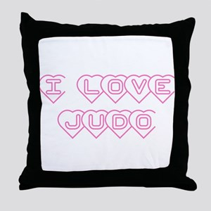 I Love Judo Throw Pillow