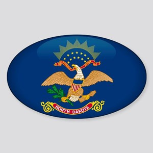 North Dakota Oval Sticker