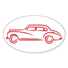 Adenauer Red Oval Sticker (10 pk)