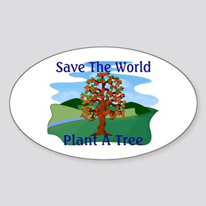 Plant A Tree Oval Sticker