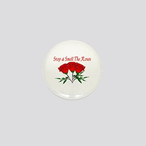 Smell The Roses Mini Button