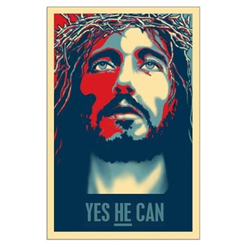Yes HE Can Large Poster