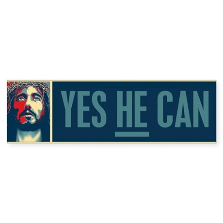 Yes HE Can Sticker (Bumper)