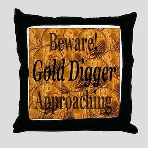 Gold Digger Approaching Throw Pillow