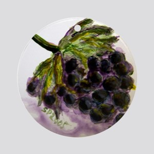 """""""Grapes on Tile"""" Ornament (Round)"""
