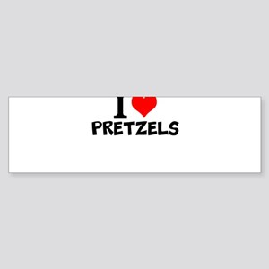 I Love Pretzels Bumper Sticker