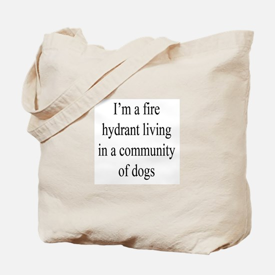 Fire Hydrant and Dogs Tote Bag