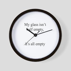 Glass Emply Wall Clock