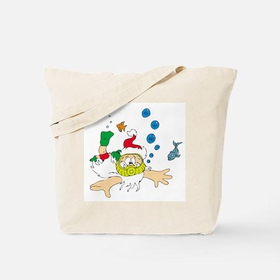 Ho! Ho! Ho! Scuba Santa Tote Bag