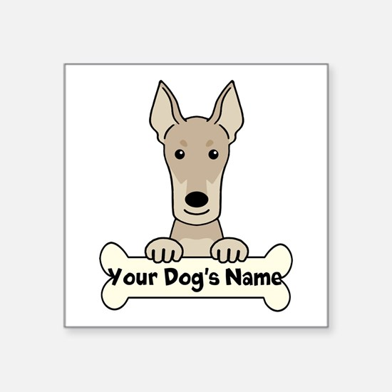 "Personalized Doberman Square Sticker 3"" x 3"""