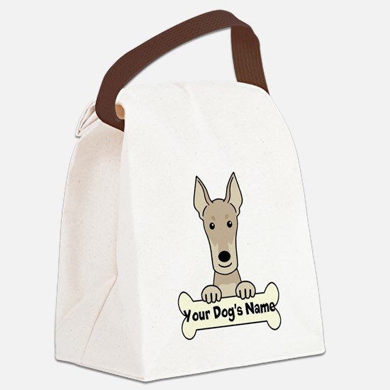 Personalized Doberman Canvas Lunch Bag