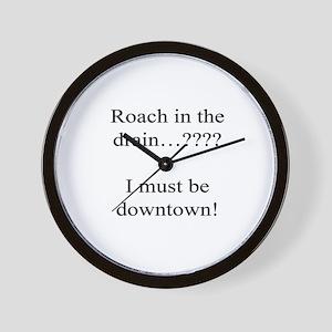 Downtown Roach Wall Clock