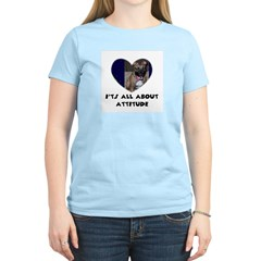 ITS ALL ABOUT ATTITUDE PIT BULL HEART Women's Pink
