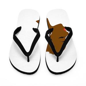 f700d10fae4844 Black History Month Flip Flops - CafePress