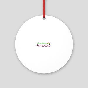 Hawaii Souvenior Ornament (Round)