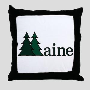 Maine Pine Tree Throw Pillow