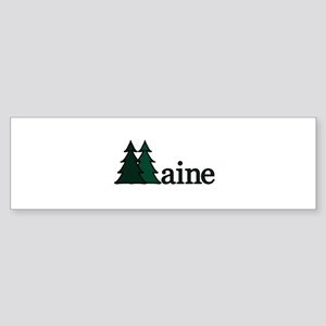 Maine Pine Tree Bumper Sticker