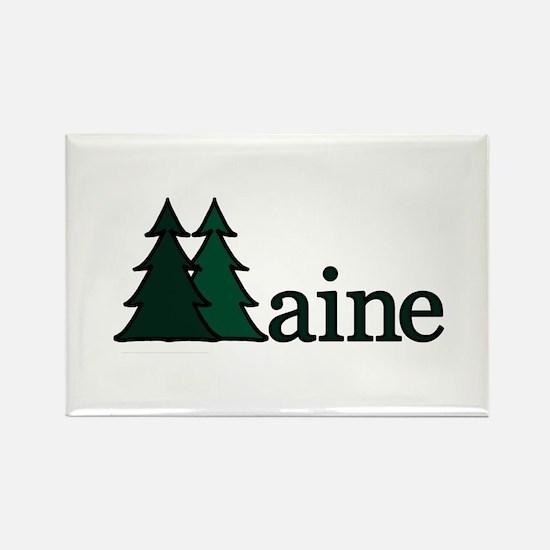 Maine Pine Tree Rectangle Magnet
