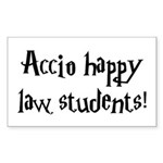 Accio happy law students! Rectangle Sticker