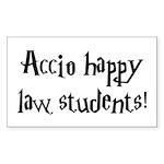 Accio happy law students! Rectangle Sticker