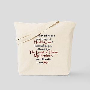 Health Care Tote Bag