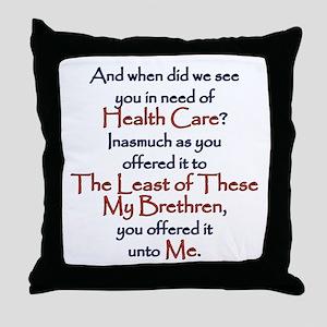 Health Care Throw Pillow