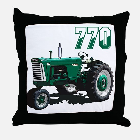 Oliver tractors Throw Pillow