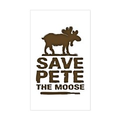 Save Pete the Moose Rectangle Decal