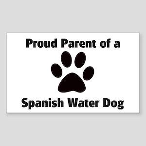 Spanish Water Dog Rectangle Sticker