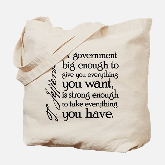 Jefferson Big Government Tote Bag