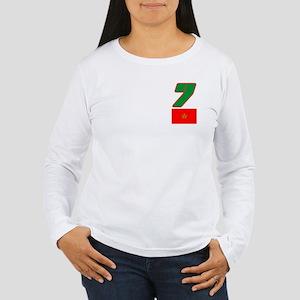 Team Morocco - #7 Women's Long Sleeve T-Shirt