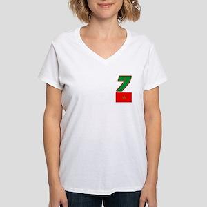 Team Morocco - #7 Women's V-Neck T-Shirt
