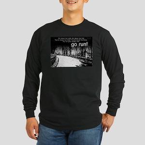 Go Run Long Sleeve Dark T-Shirt