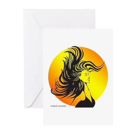 Wild Dance Girl Greeting Cards (Pk of 10)