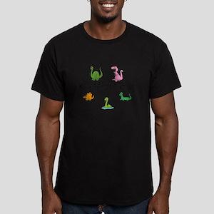 Kaydenosaurus Men's Fitted T-Shirt (dark)