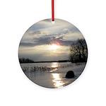 Winter Sunset 0004 Ornament (Round)