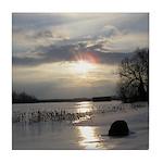 Winter Sunset 0004 Tile Coaster